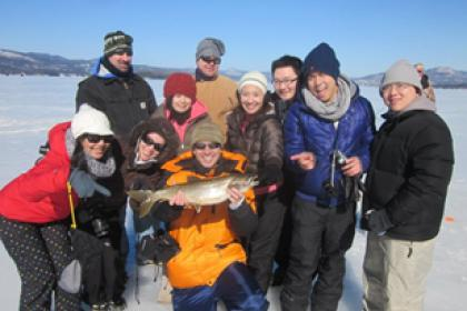 1 day Ice Fishing + Natural Mineral Bath tour
